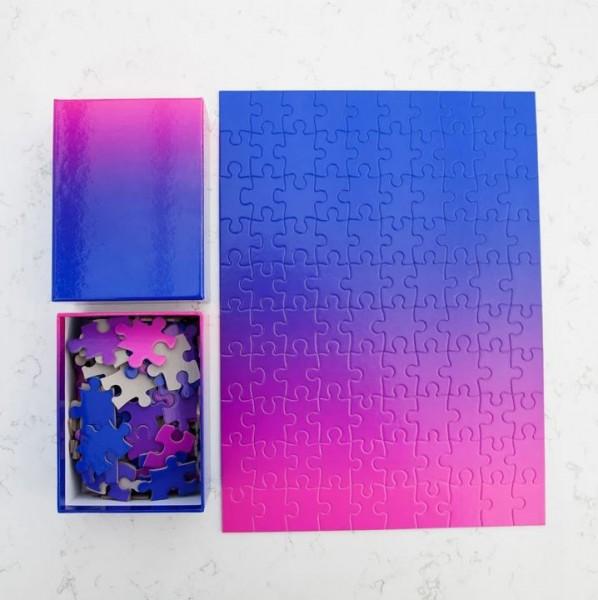 Puzzle . GRADIENT . blue / pink