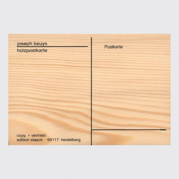 Postcard . BEUYS . wood