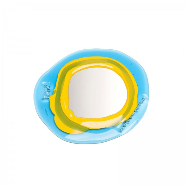 Spiegel . CORSI . Fish Design . gelb blau